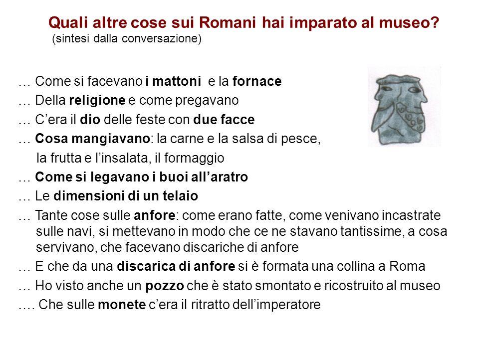 Quali altre cose sui Romani hai imparato al museo