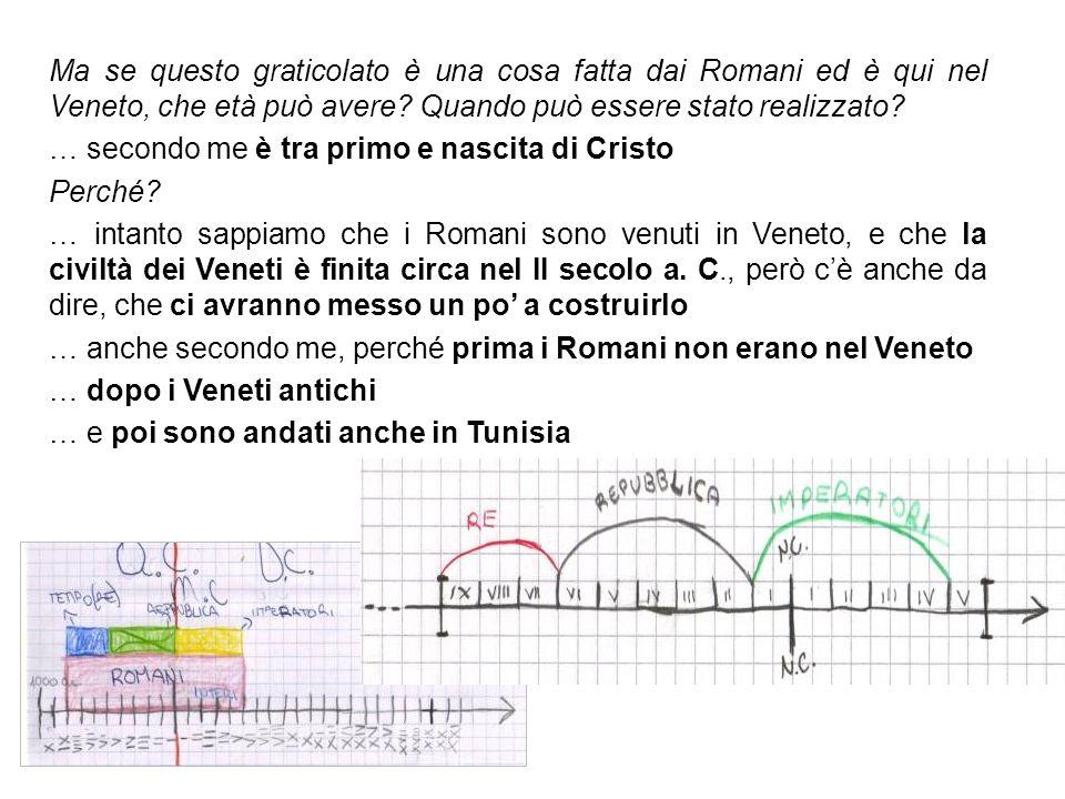 Ma se questo graticolato è una cosa fatta dai Romani ed è qui nel Veneto, che età può avere Quando può essere stato realizzato