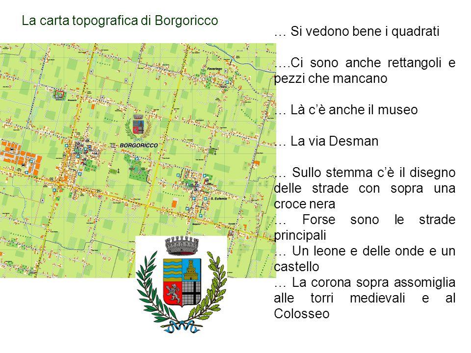 La carta topografica di Borgoricco