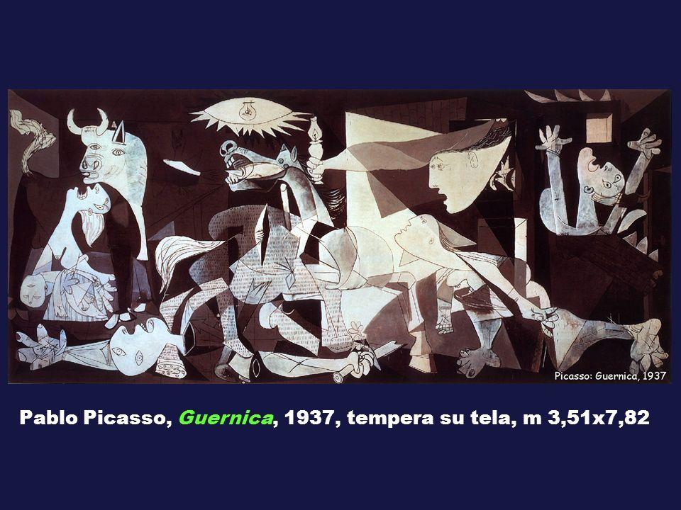 Pablo Picasso, Guernica, 1937, tempera su tela, m 3,51x7,82