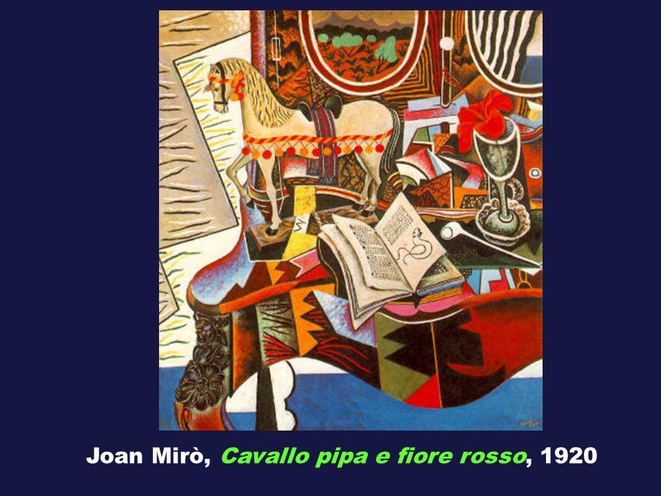 Joan Mirò, Cavallo pipa e fiore rosso, 1920