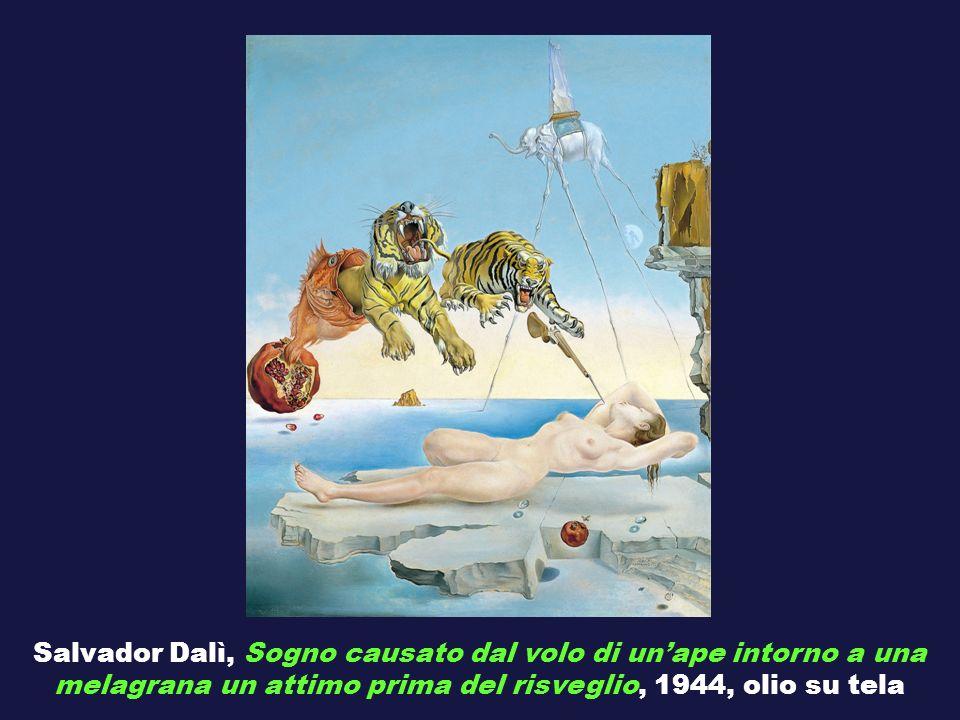 Salvador Dalì, Sogno causato dal volo di un'ape intorno a una melagrana un attimo prima del risveglio, 1944, olio su tela