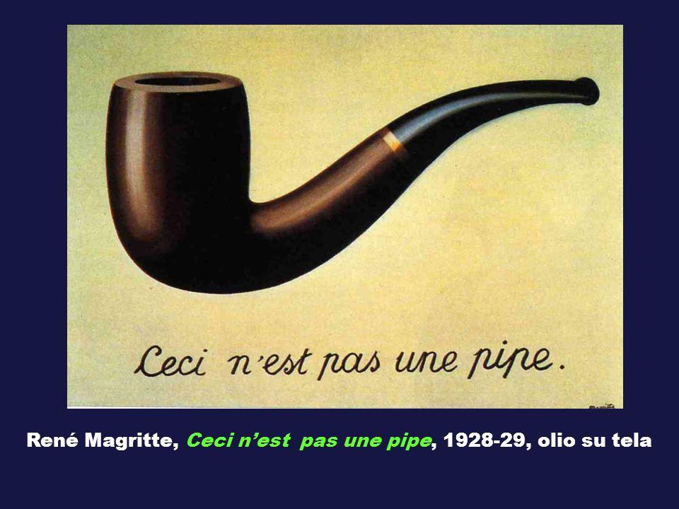 René Magritte, Ceci n'est pas une pipe, 1928-29, olio su tela