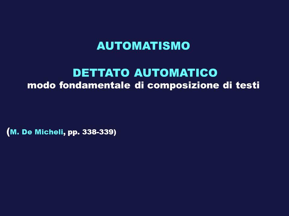 AUTOMATISMO DETTATO AUTOMATICO