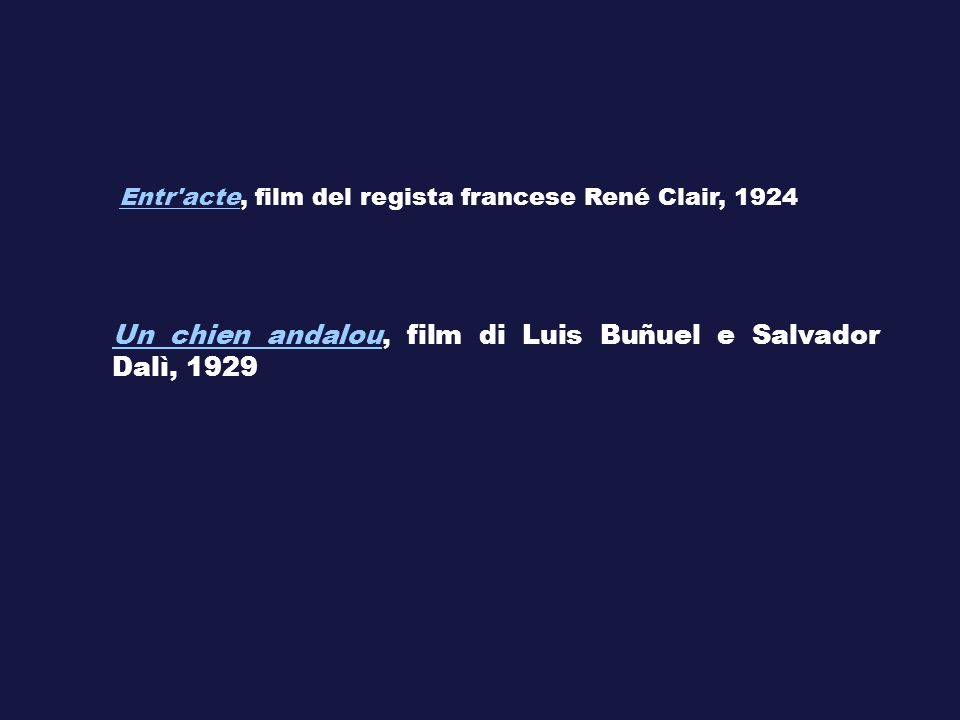 Un chien andalou, film di Luis Buñuel e Salvador Dalì, 1929