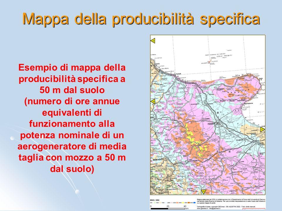 Mappa della producibilità specifica