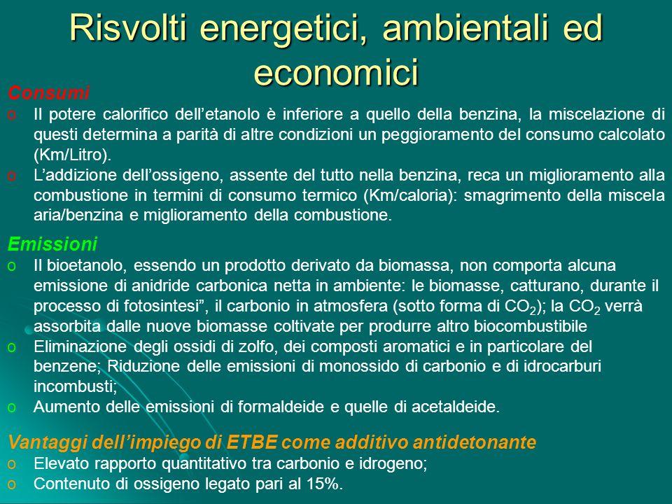 Risvolti energetici, ambientali ed economici