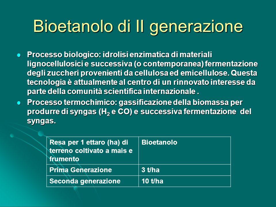 Bioetanolo di II generazione
