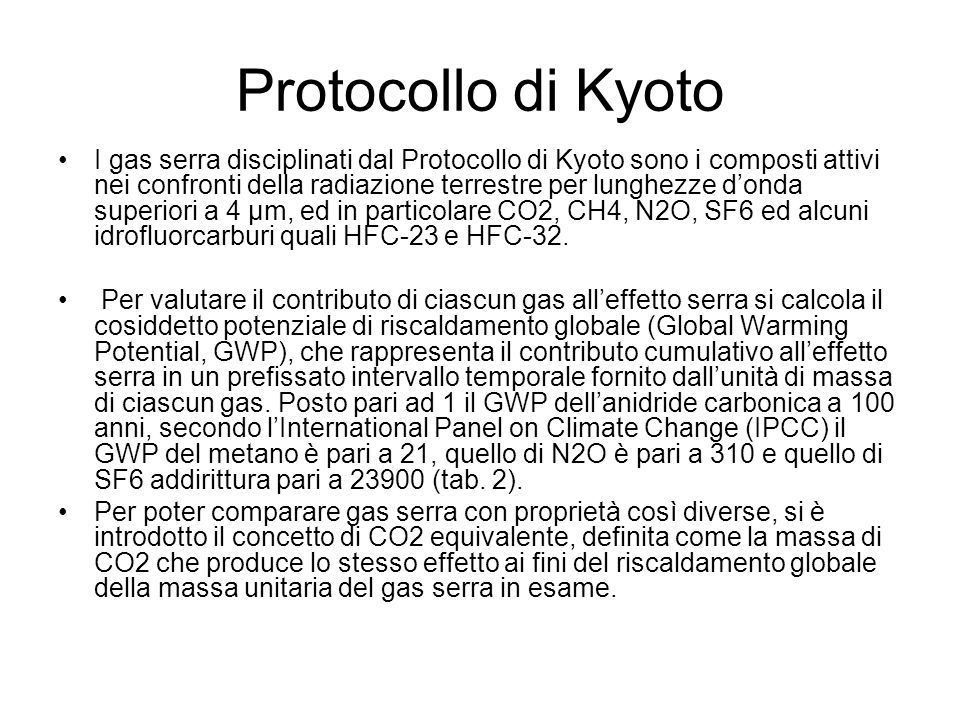 Protocollo di Kyoto