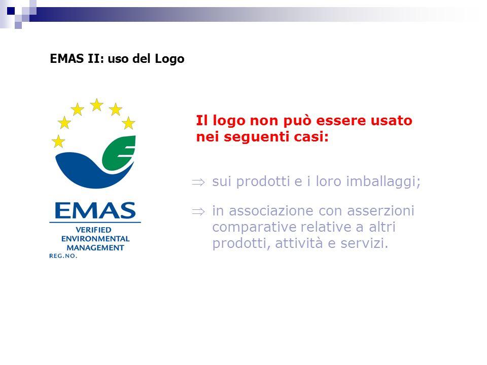 Il logo non può essere usato nei seguenti casi: