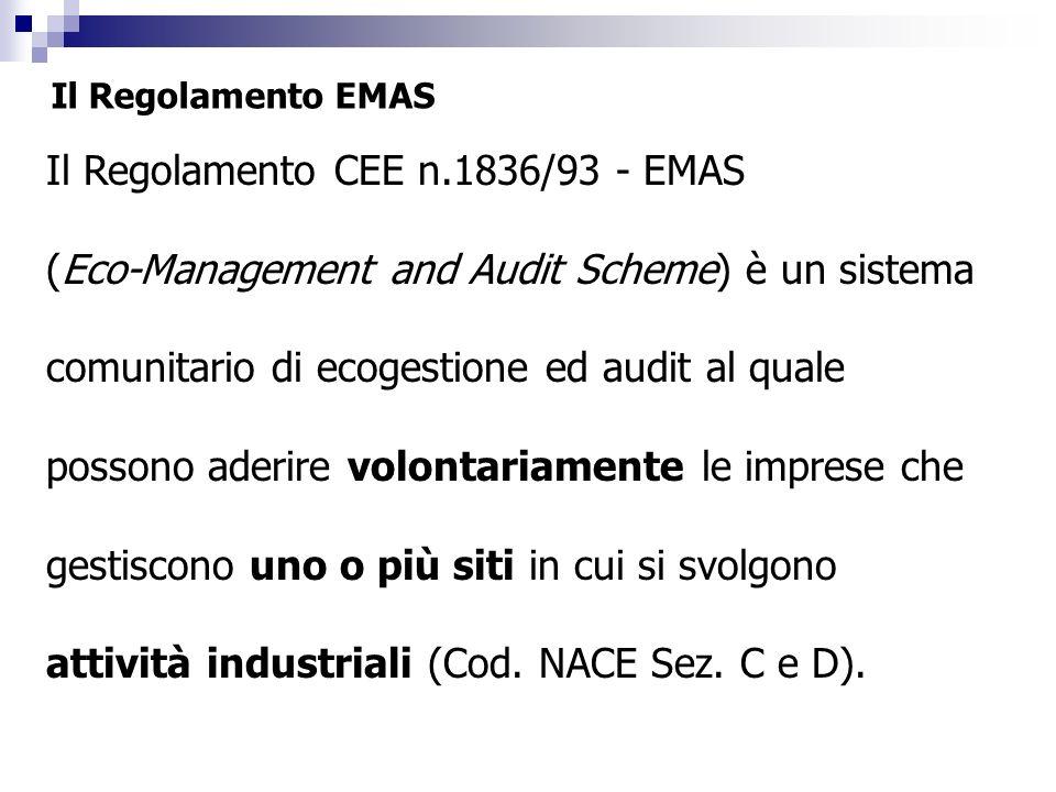 Il Regolamento CEE n.1836/93 - EMAS