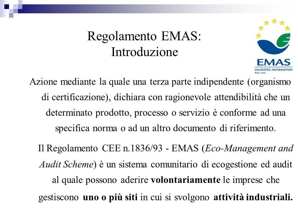 Regolamento EMAS: Introduzione