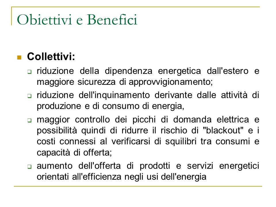Obiettivi e Benefici Collettivi: