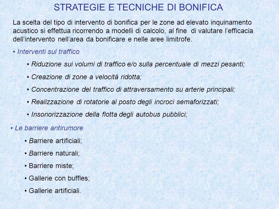 STRATEGIE E TECNICHE DI BONIFICA