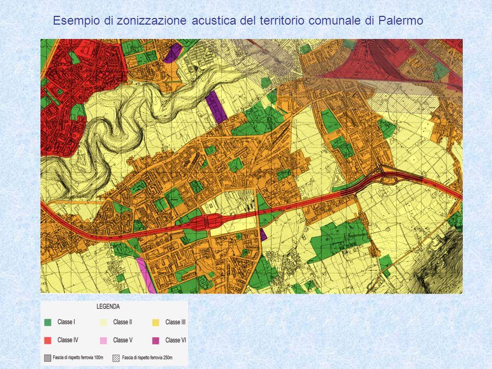 Esempio di zonizzazione acustica del territorio comunale di Palermo
