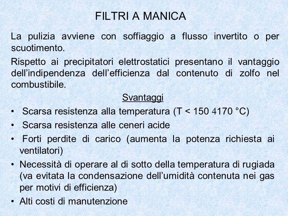 FILTRI A MANICA La pulizia avviene con soffiaggio a flusso invertito o per scuotimento.