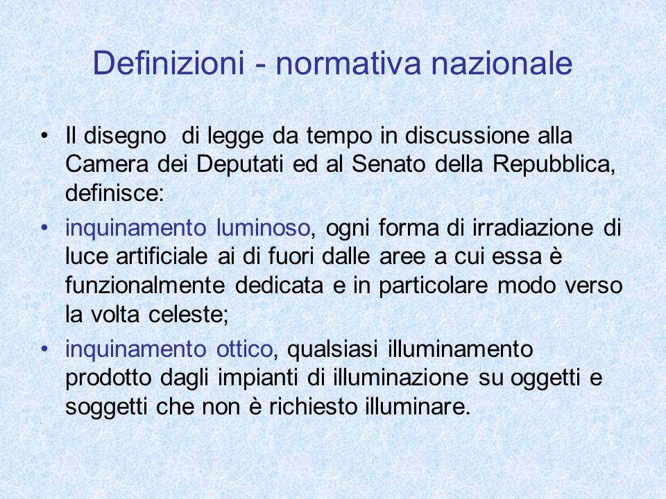 Definizioni - normativa nazionale