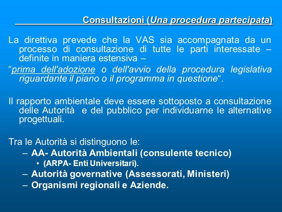 Consultazioni (Una procedura partecipata)