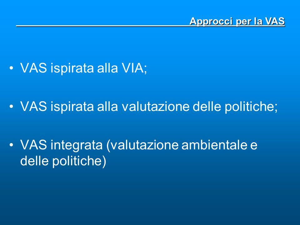 VAS ispirata alla valutazione delle politiche;