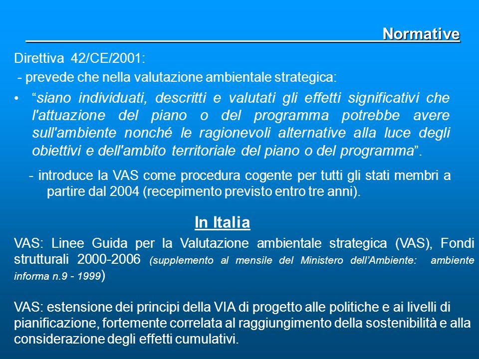 Normative In Italia Direttiva 42/CE/2001: