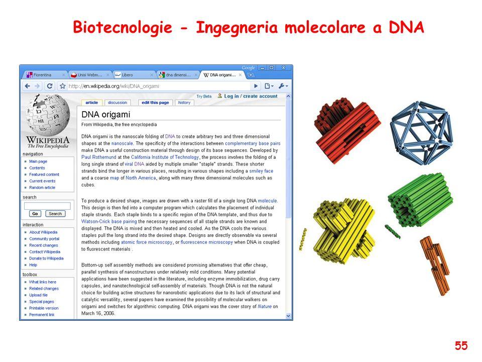 Biotecnologie - Ingegneria molecolare a DNA