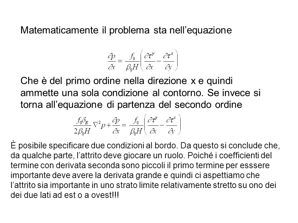 Matematicamente il problema sta nell'equazione