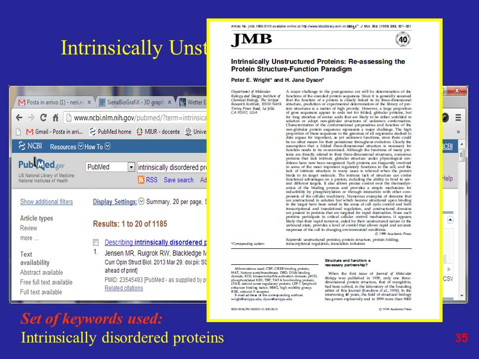 Intrinsically Unstructured Proteins (IUPs)