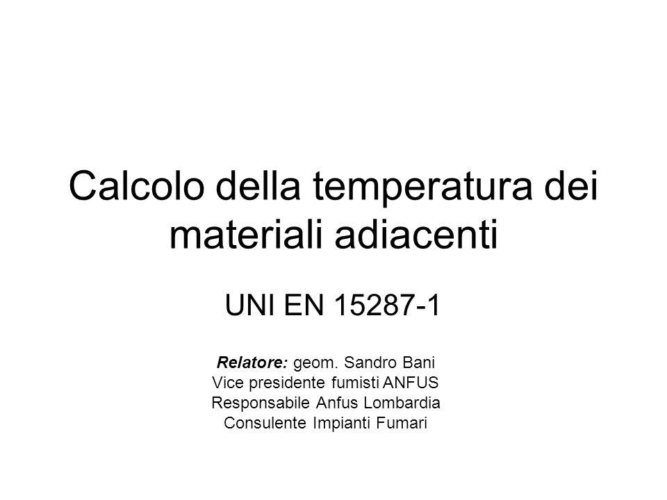 Calcolo della temperatura dei materiali adiacenti