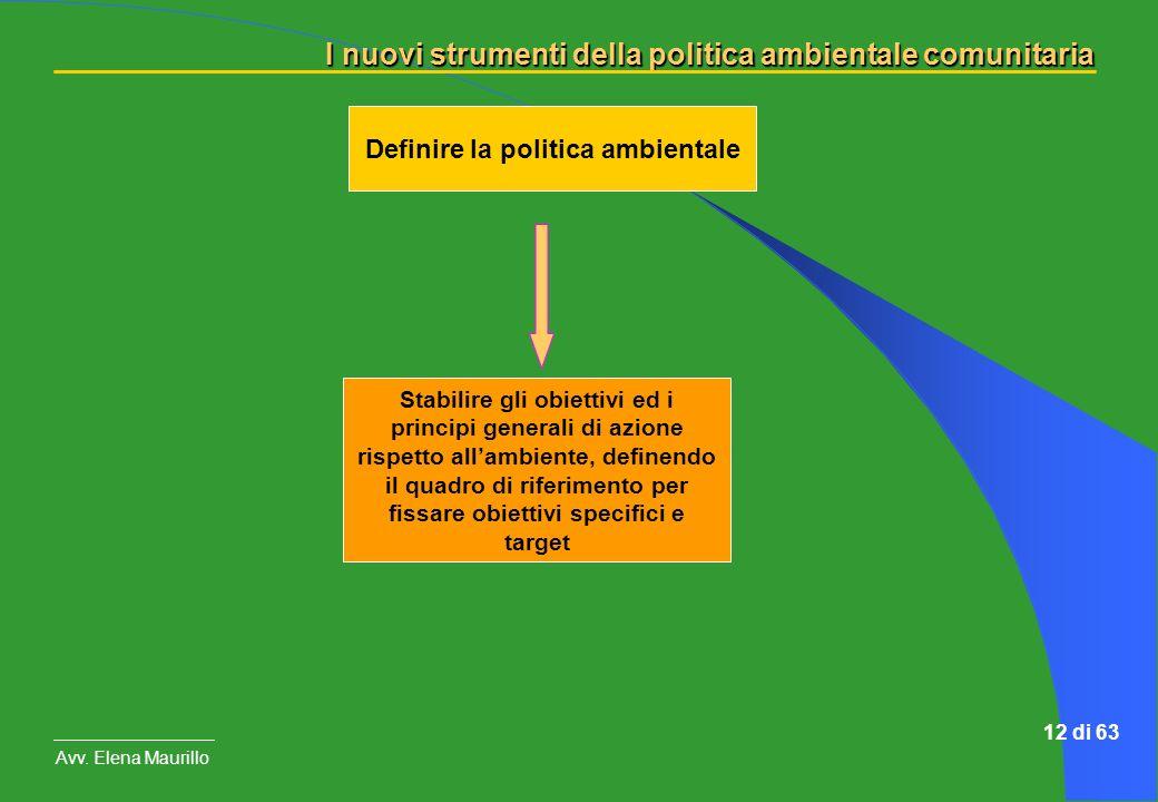 Definire la politica ambientale