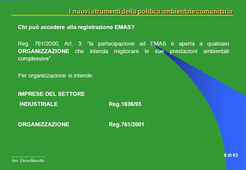 Chi può accedere alla registrazione EMAS