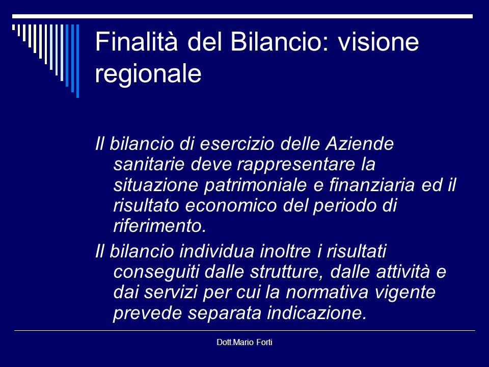 Finalità del Bilancio: visione regionale