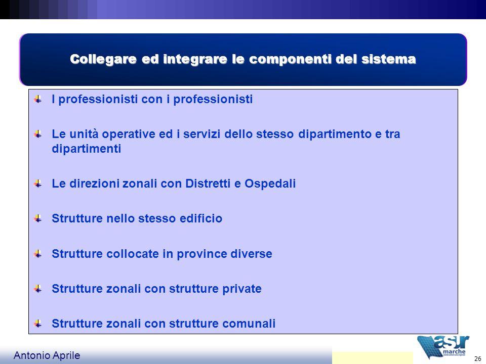Collegare ed integrare le componenti del sistema