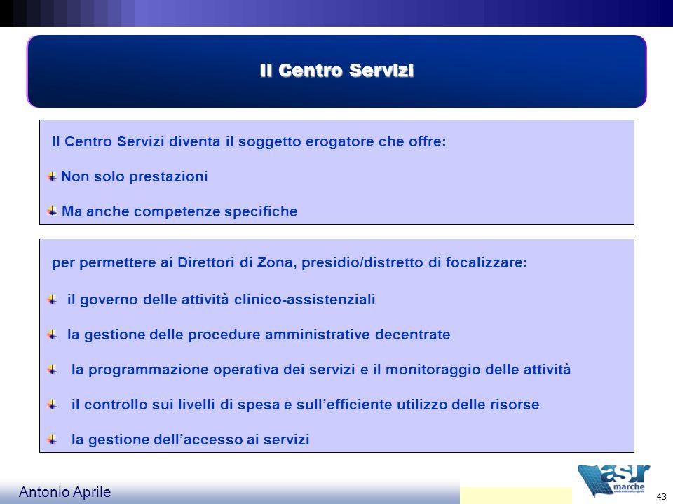 Il Centro ServiziNon solo prestazioni. Ma anche competenze specifiche. Il Centro Servizi diventa il soggetto erogatore che offre: