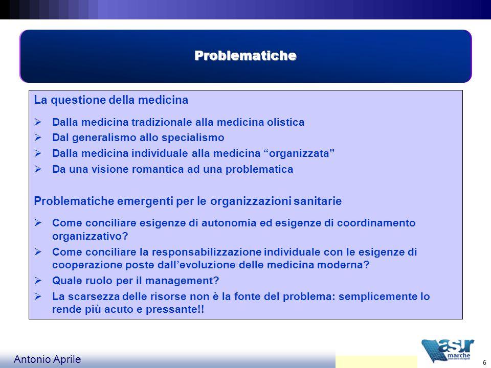 Problematiche La questione della medicina