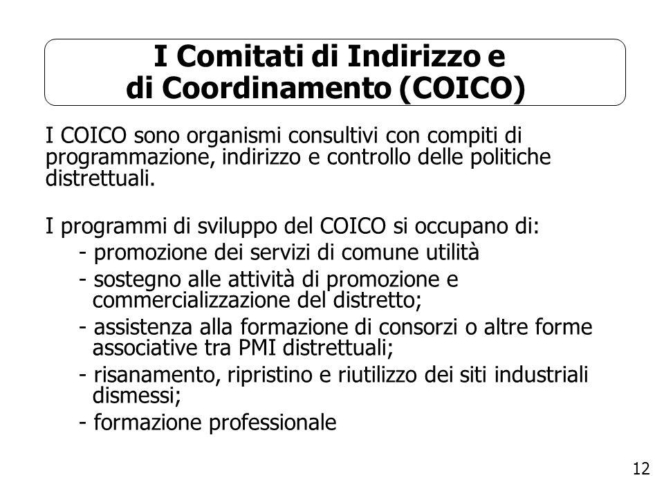 I Comitati di Indirizzo e di Coordinamento (COICO)