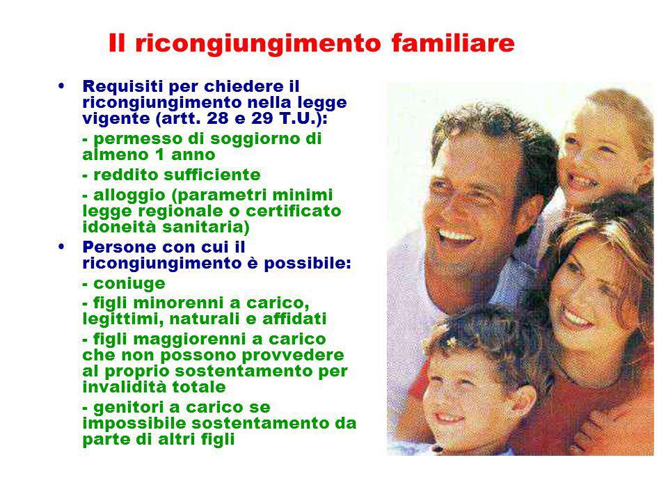 Il ricongiungimento familiare