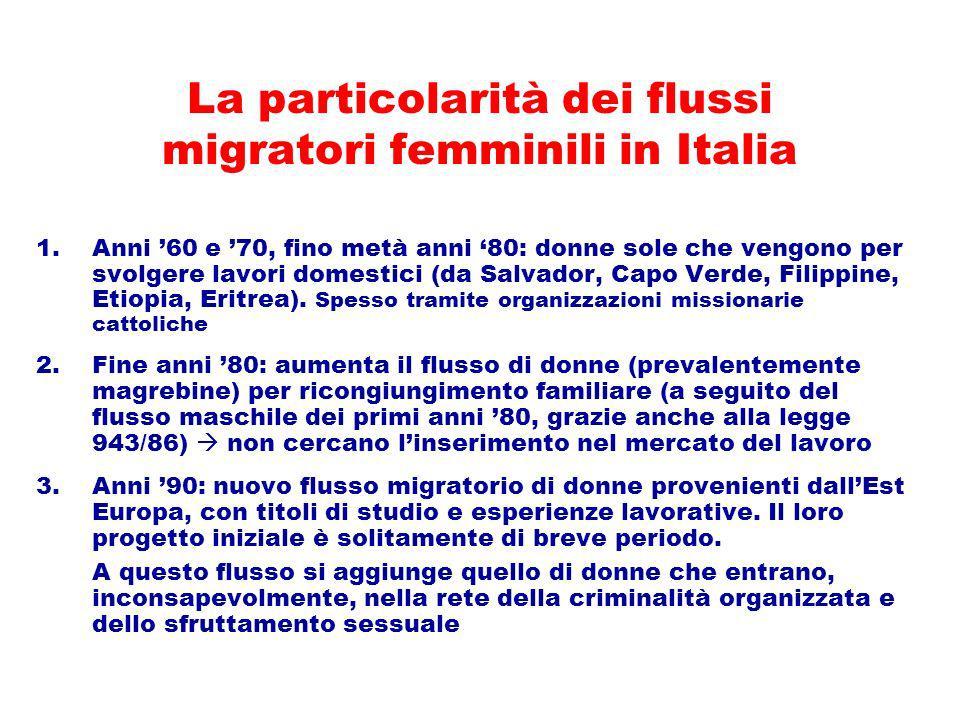 La particolarità dei flussi migratori femminili in Italia