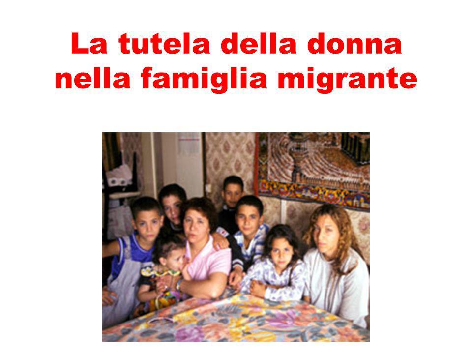 La tutela della donna nella famiglia migrante