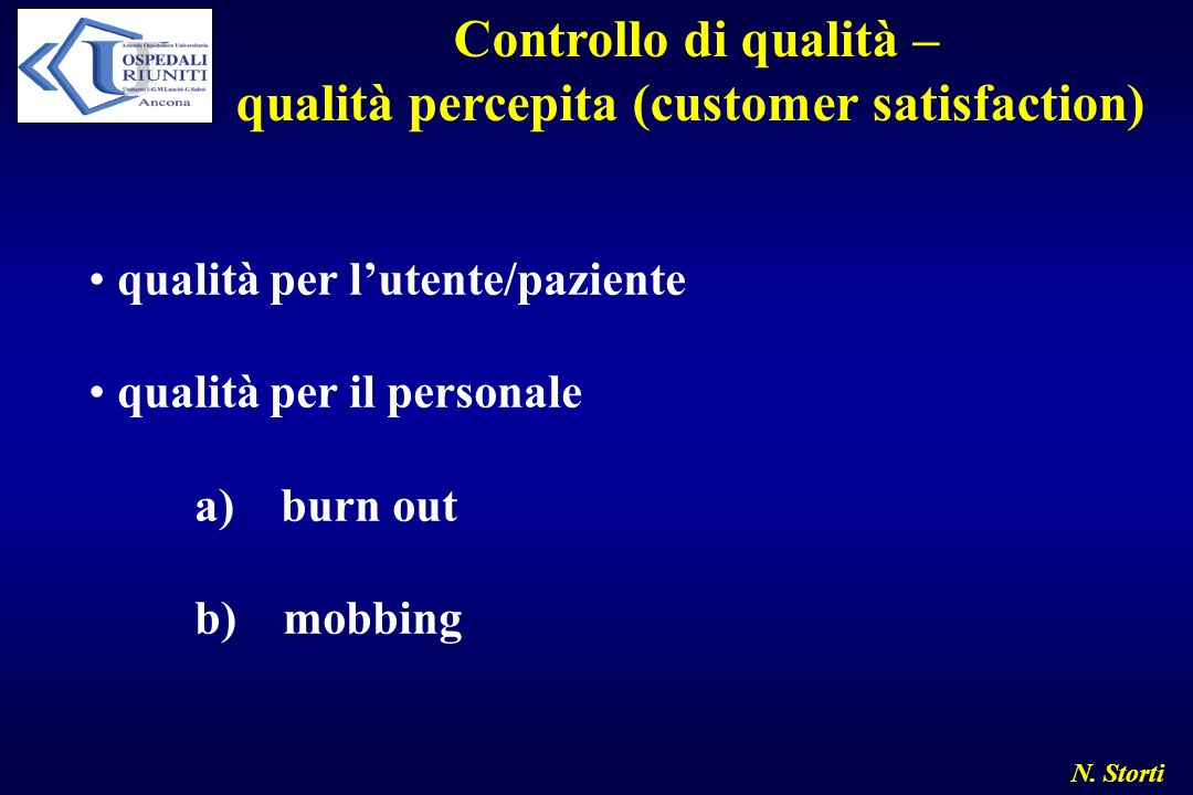 qualità percepita (customer satisfaction)