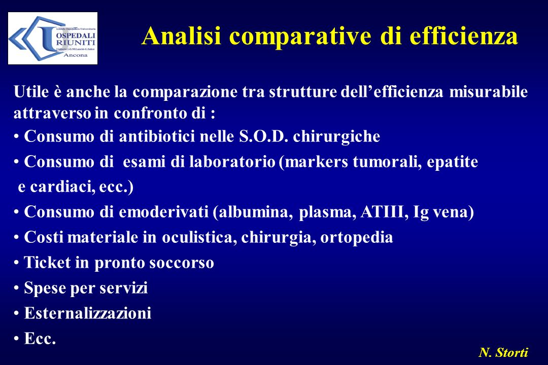 Analisi comparative di efficienza