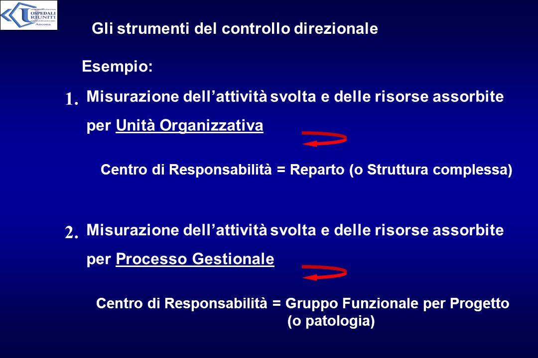 1. 2. Gli strumenti del controllo direzionale Esempio: