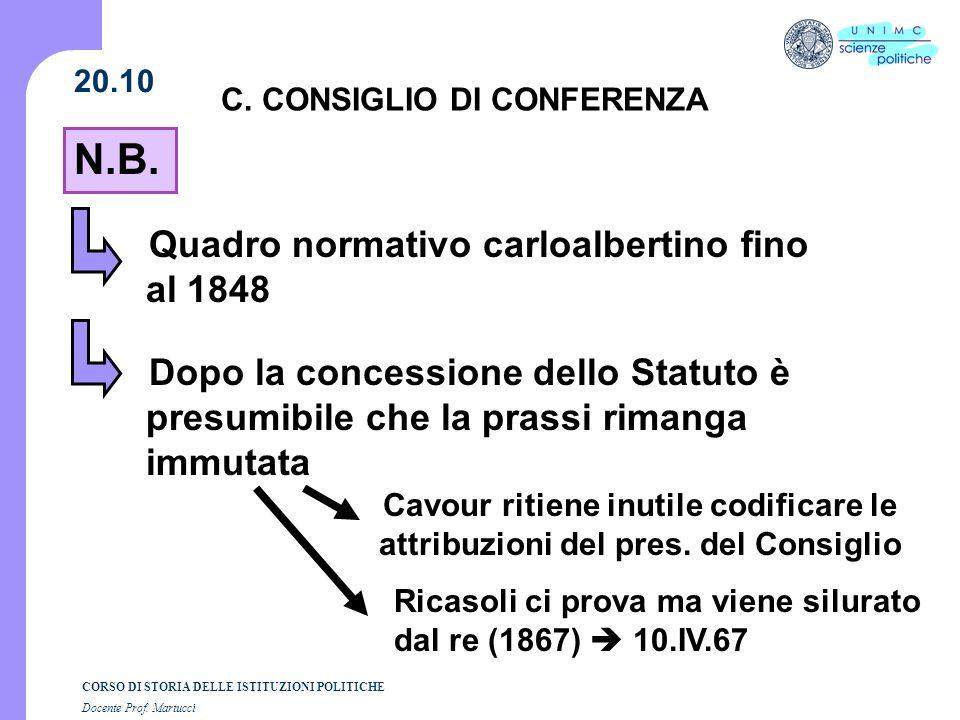 C. CONSIGLIO DI CONFERENZA