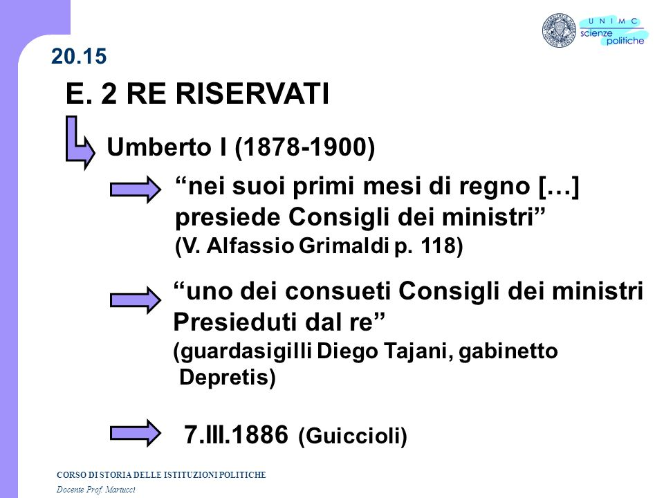 E. 2 RE RISERVATI Umberto I (1878-1900)