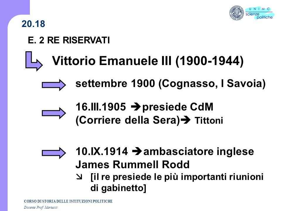 Vittorio Emanuele III (1900-1944)