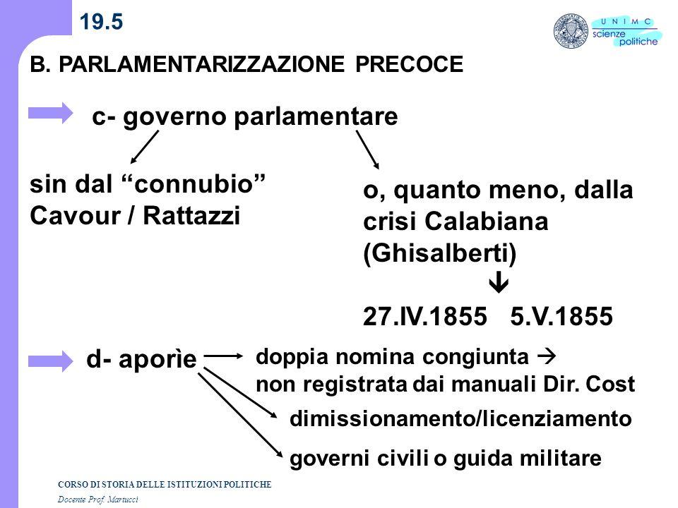 c- governo parlamentare