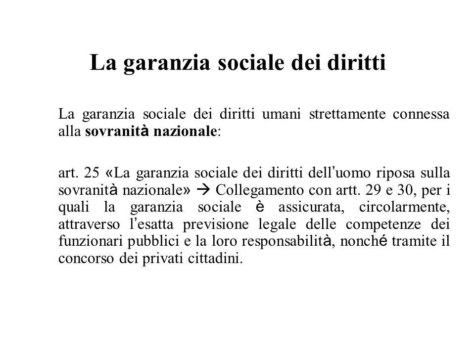 La garanzia sociale dei diritti