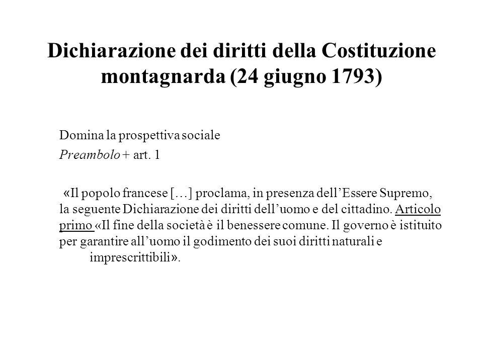 Dichiarazione dei diritti della Costituzione montagnarda (24 giugno 1793)