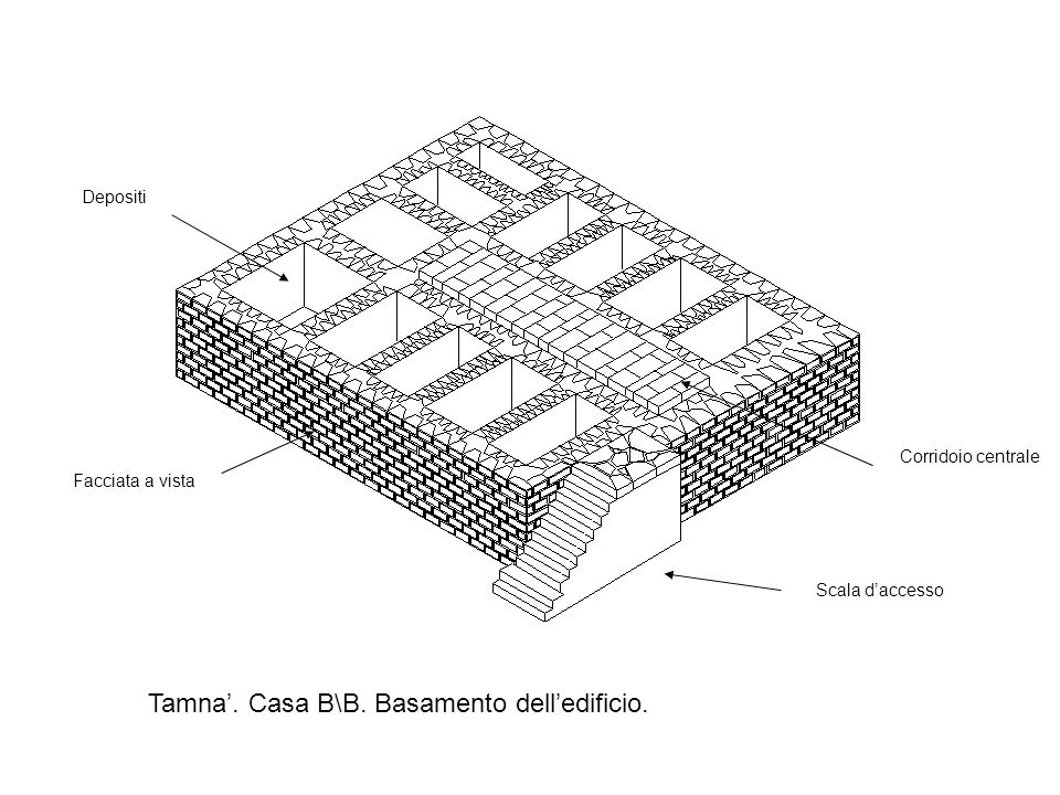 Tamna'. Casa B\B. Basamento dell'edificio.