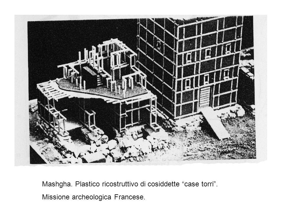 Mashgha. Plastico ricostruttivo di cosiddette case torri .