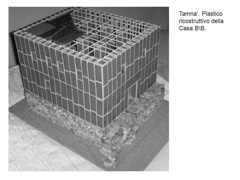 Tamna'. Plastico ricostruttivo della Casa B\B.